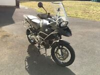 BMW R 1200 GS Adventure with panniers and top box