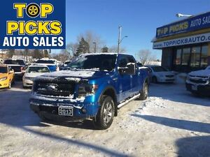 2013 Ford F-150 FX4, LEATHER, SUNROOF, NAVIGATION, LOW KMS!