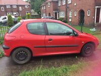 Peugeot 206 spares and repairs mot just expired cheap to run needs radiator