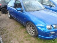 MG ZR IN BLUE BREAKING FOR ALL PARTS 2004