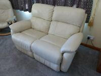 2 Seater Leather Electric Reclining Sofa and Matching Chair
