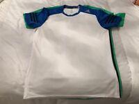 Men's medium blue and white sports T-shirt Adidas