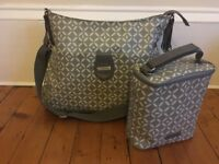 Storksak nappy bag Nina grey