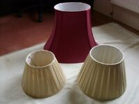 Two as new and one other lamp shade