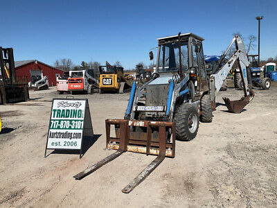 2001 Earthforce Ssk 4x4x4 Compact Tractor Loader Backhoe W Cab