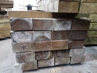 🌟 X55 Pressure Treated Railway Sleepers 225mm x 125mm x2400mm