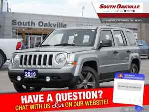 2016 Jeep Patriot Sport|CRUISE CTRLS|HTD LTHR| SIRIUSXM