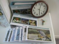 Atlas world Birds of Britain with wall clock and DVD