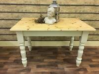 STUNNING SOLID PINE FARMHOUSE 4FT TABLE CAN DELIVER