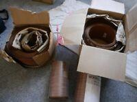 Mahogany veneer sheets for cabinet and furniture making.
