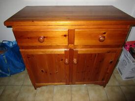 Polished solid pine sideboard