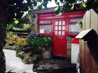 Studio Cabin.Long or short let.Nr St.Ives/Hayle/PZ/A30 Furnished.£125 pw inc c.tax/water/wifi/tv lic