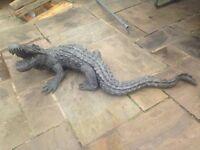 Bronze Crocodile Statue
