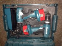 x2 makita 14v drills box charger snd batteries bargain £35 the lot