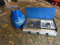 Camping stove and bottle