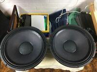 "P.Audio challenger series C15-500LF 500w 15"" speaker pair"