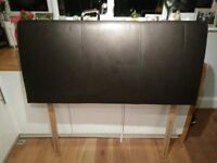 Leather Double Bed Headboard - 4ft6