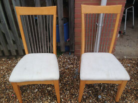 Two dining room chairs - Ferndown, Dorset