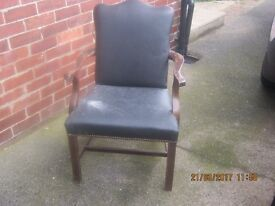 Victorian type Wooden armed Chair