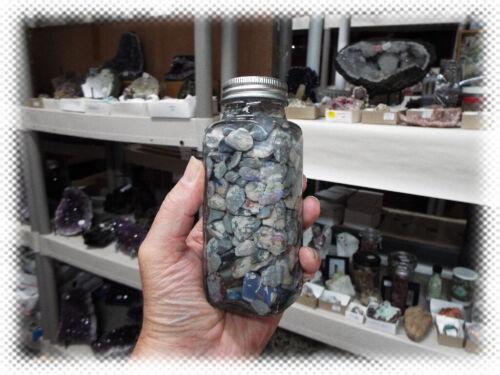 JAR - PARCEL - LOT > AUSTRALIAN BLACK OPAL MINE ROUGH DOUBLET BACKING GEMSTONE