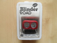 KNOG BLINDER ROAD 250 FRONT CYCLE HEADLIGHT IN RED
