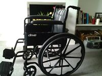 Wheelchair, used twice, self-propelled, make is Drive