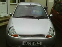 ford ka, 2006 reg, 70,000 miles only, new mot, full history, first to see will buy