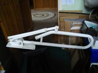 Toilet Grab Bar Foldable Drop Down Grab Rail with Leg