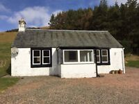 Newly decorated two bedroom detached cottage in rural location, double glazed and oil c/h.