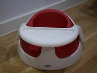 Mamas And Papas Snug Seat Baby Feeding Chair With Tray - Raspberry