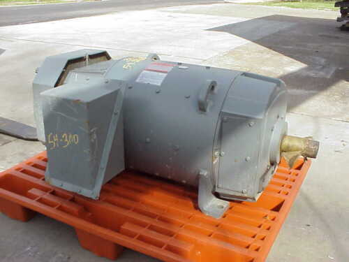 50 Hp Dc General Electric Motor, 1750 Rpm, 409at Frame, Tefc, 500 V, New