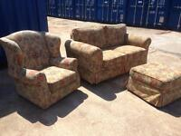 SOFA, CHAIR, FOOT REST. Nice clean condition free to collector, B'ham