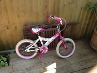Girls bike Suitable for ages 4-6