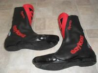 DAYTONA SPORTS MOTORBIKE BOOTS HAND CRAFTED IN GERMANY - REPLACEABLE TOE SLIDERS, SIZE 41 (7) VGC