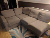 Nabru corner sofa, comes apart for easy transportation