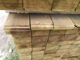 "Tanalised Green 6"" Featheredge (22mm x 150mm)"