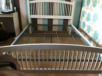 White wood double bed