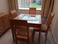 Dining Table c/w 4 Chairs