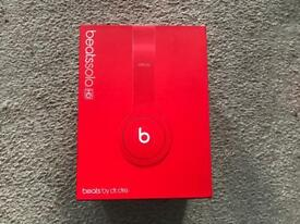 Red Beats Solo HD headphones Boxed in excellent condition