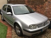 VW Golf Silver. Currently off-road. minimal work to pass MOT I reckon. If not, great for parts