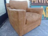 Suede Armchair in excellent condition Delivery Available £15