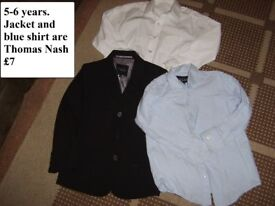 Thomas Nash jacket and blue shirt 5-6 years ( + white shirt) £7