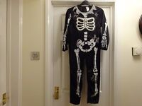 Halloween Kids Outfit - Skeleton Age 7-8yrs (all-in-one)