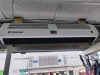 Over the door heater heat curtain Brand new condition used for three months