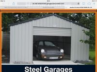 Steel Garages,steel sheds,summer houses,garden chalets,home office ,one and two bed living space.
