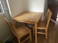 Lovely small dining table and chairs