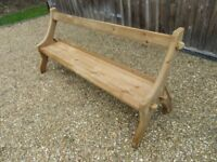 """6ft 6"""" OLD PINE CHURCH PEW, Delivery possible. MORE PEWS, BENCHES, SETTLES & TABLES FOR SALE."""