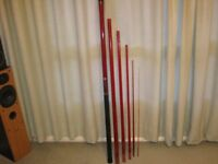 vintage roach pole shimano jj-01596a circa1980s 5.9 metres