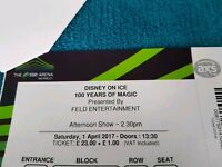 Disney on Ice tickets 100 years of magic 01/04/17 Two tickets