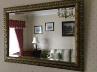 Decorative Antique Gold Effect Framed Mirror